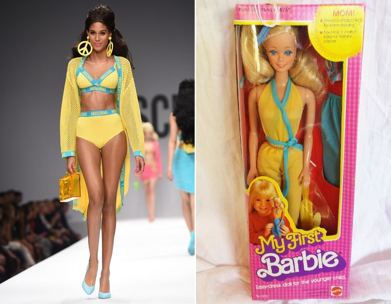 We Found 12 Moschino Runway Looks On Actual Barbies From Ebay Mtv