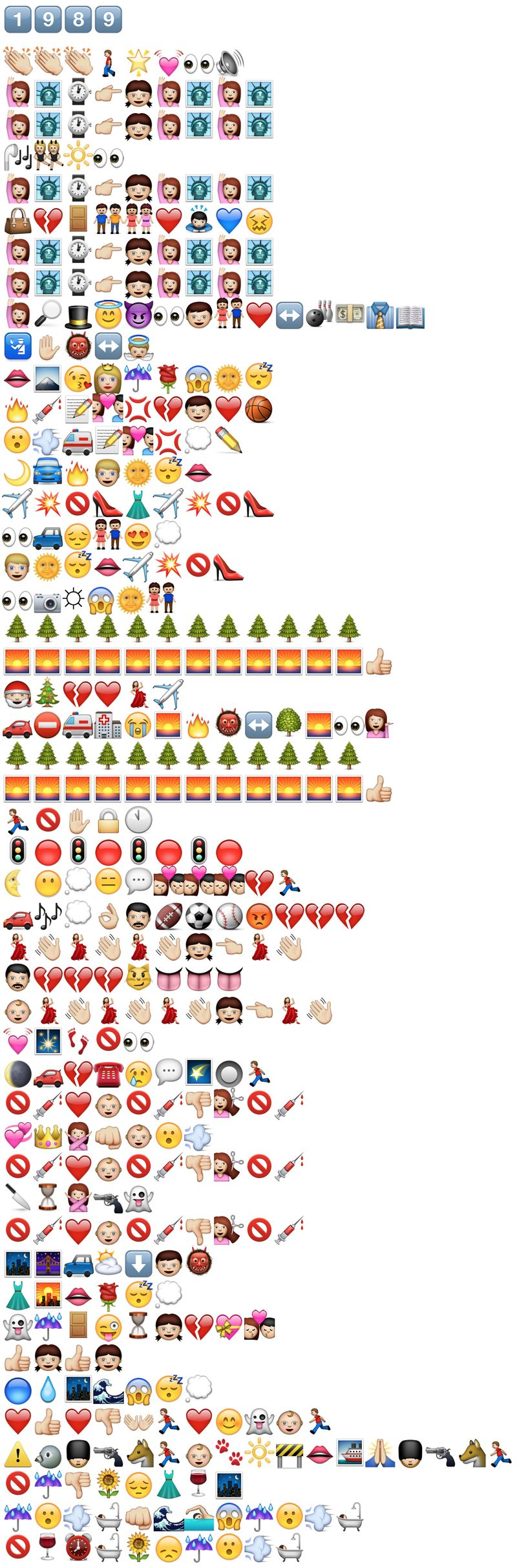 Here S Every Song On Taylor Swift S 1989 Album In Emoji Mtv