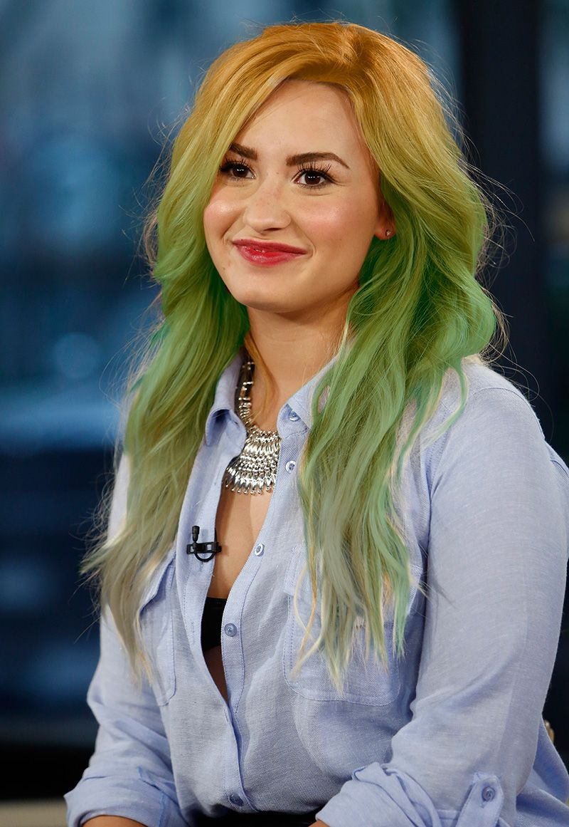 What Color Did Demi Lovato Dye Her Hair Last Night Mtv
