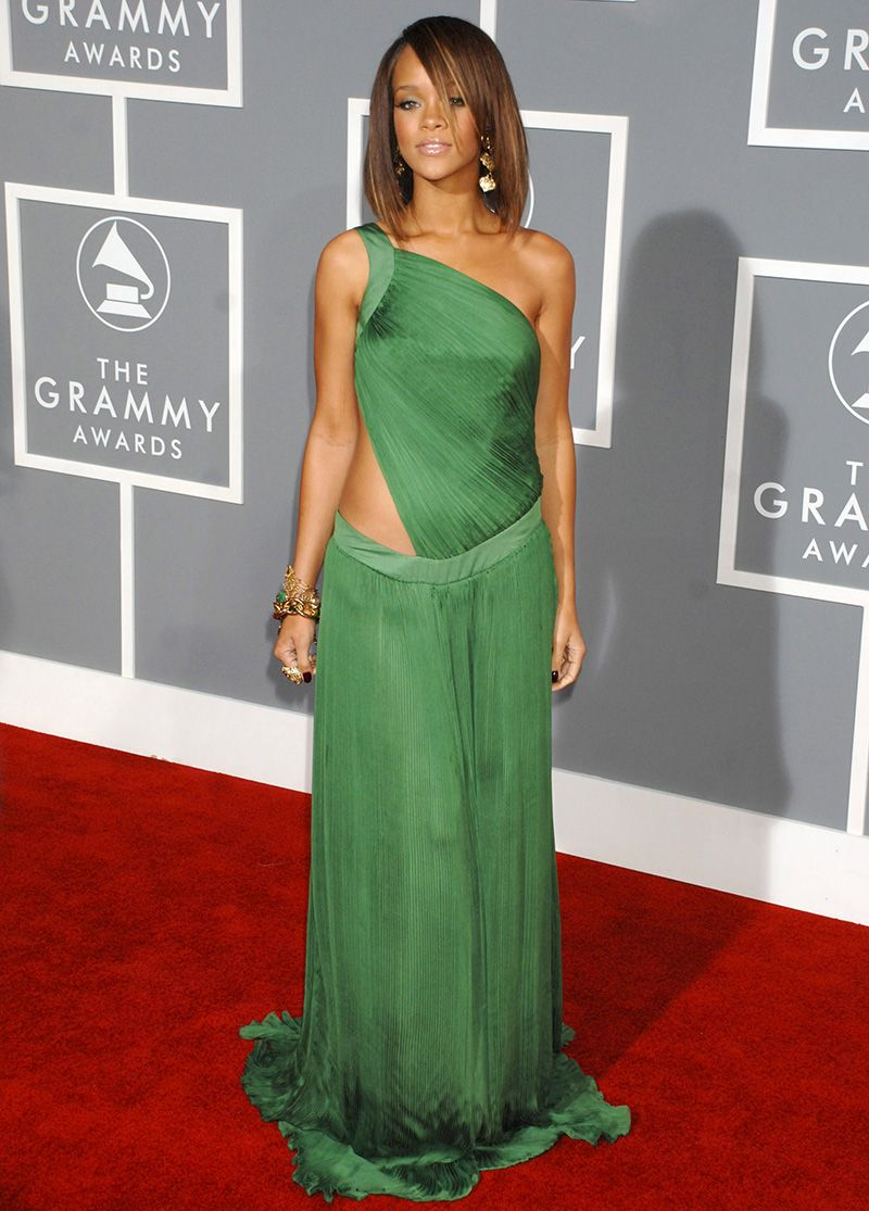 see every outfit rihanna has ever worn at the grammys mtv see every outfit rihanna has ever worn