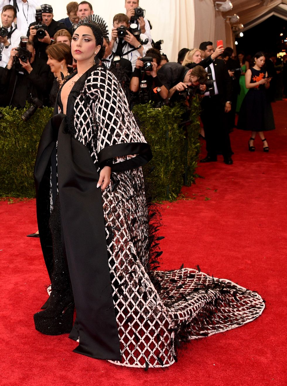 Lady Gaga in Balendiaga at Met Gala 2015