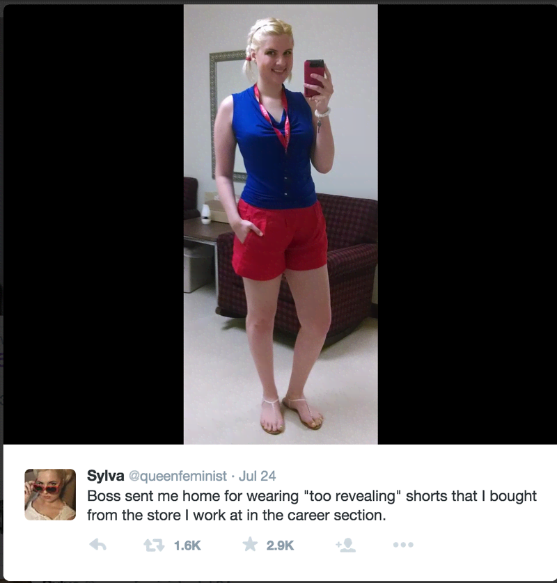 This Jc Penney Employee Got Sent Home For Wearing Too Short Shorts From The Career Department Mtv