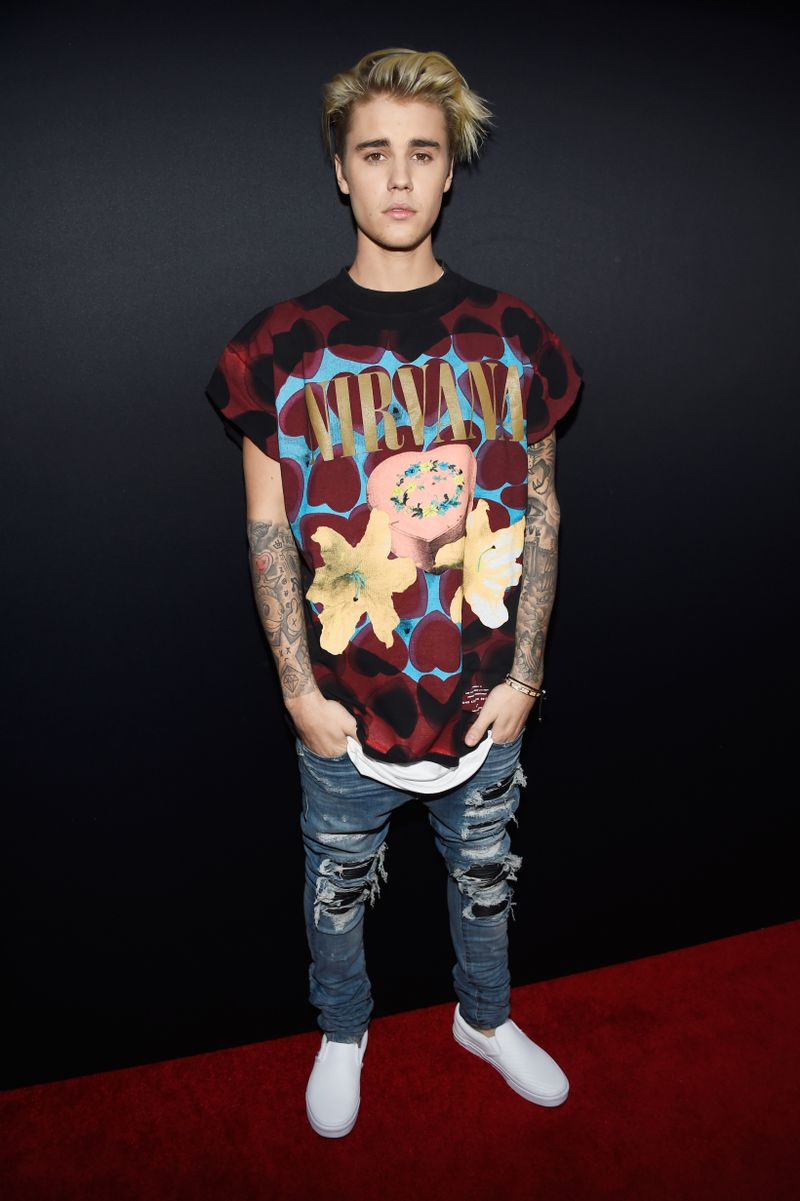 8a088d5e1 Why Does Justin Bieber Need To Defend His Nirvana T-Shirt? - MTV