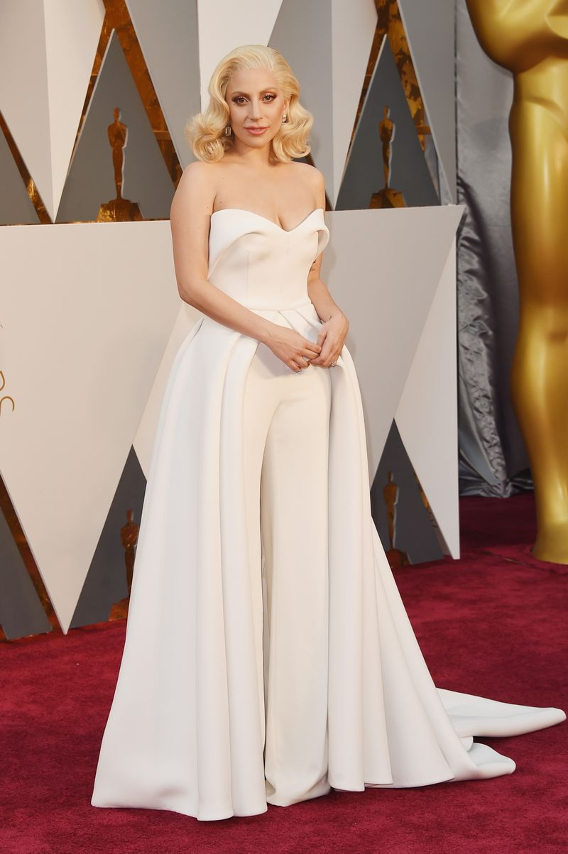 Lady Gaga Is Wearing Both Pants And A Dress To The Oscars - MTV