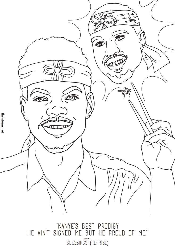 Chance The Rapper S Coloring Book Inspired An Actual Coloring Book Mtv