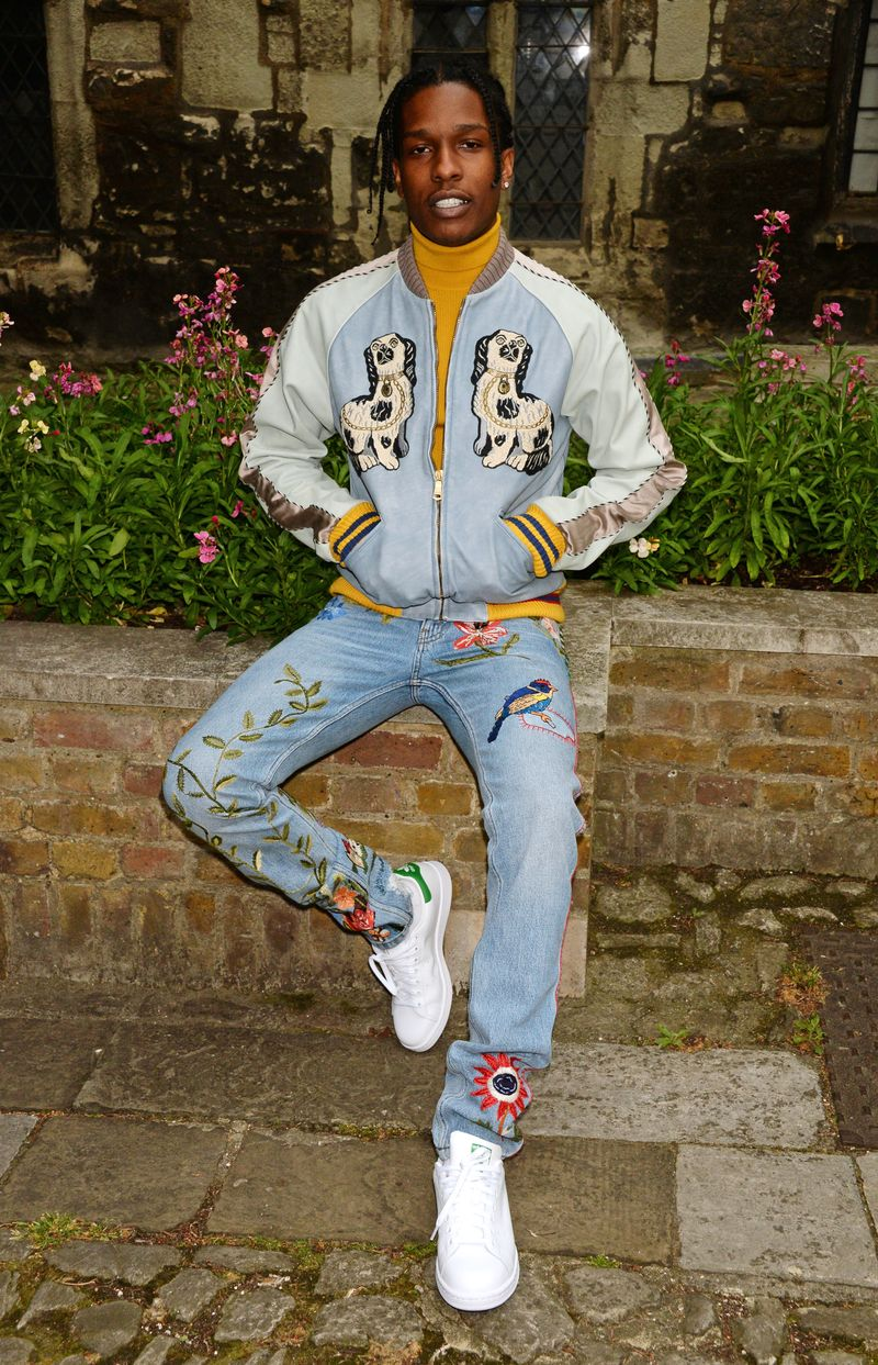 81ba1223be93 A$AP Rocky Will Be Singlehandedly Responsible For The Resurgence Of Embroidered  Jeans
