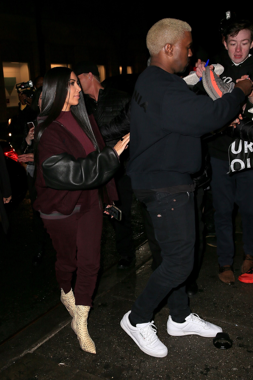 Model And Jenner Kanye's Adidas Kim Kardashian Kendall