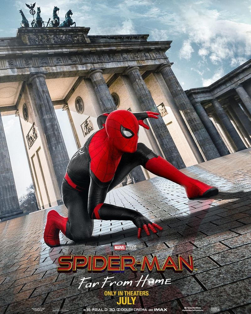 「spider man far from home poster」の画像検索結果